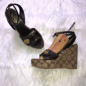 Coach Kerilyn Signature Wedges 7M